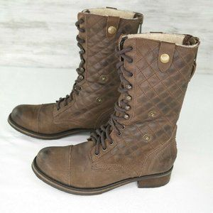 Steve Madden Dublyn Boots Sz 7.5 Brown Quilted